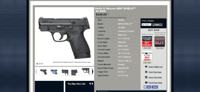 Product  Smith   Wesson M P SHIELD™ .40 S W